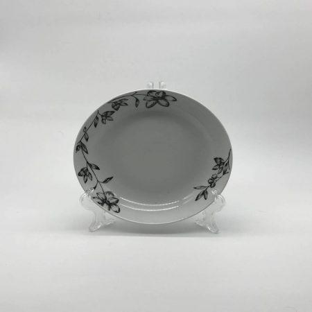 Πιάτο ασπρόμαυρο ρηχό