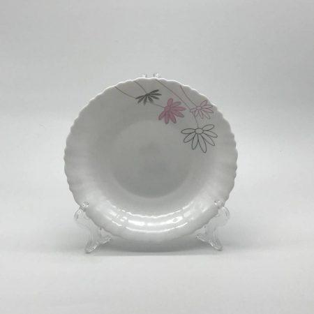 Πιάτο βαθύ με λουλούδι ροζ