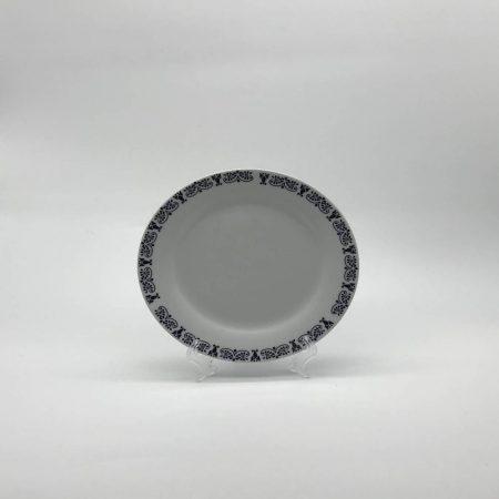 Πιάτο ρηχό με ασπρόμαυρο περίγραμμα
