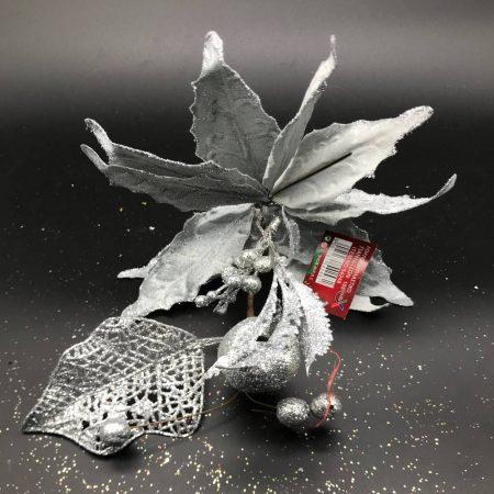 Λουλούδι Ασημί Σχέδιο1