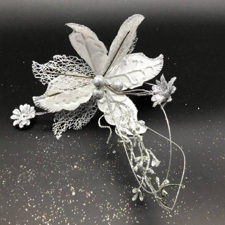 Λουλούδι Ασημί με Άσπρο