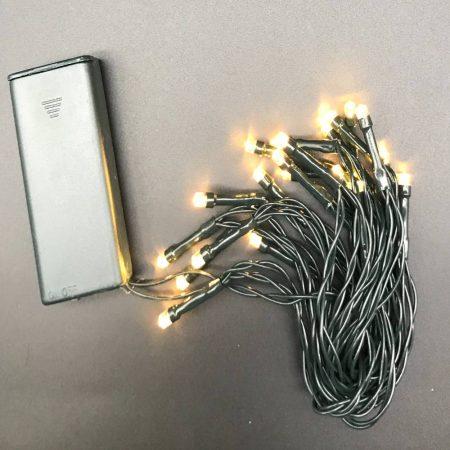 Φωτάκια Μπαταρίας Θερμό-Λευκό με Πράσινο Καλώδιο