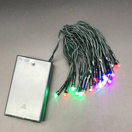Φωτάκια Μπαταρίας Πολύχρωμα με Πράσινο Καλώδιο