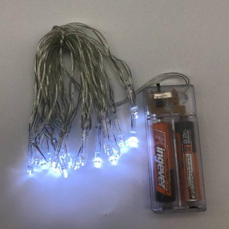 Φωτάκια Μπαταρίας 20 LED Λευκά