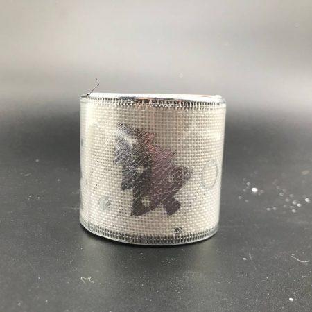 Κορδέλα Άσπρο-Ασημί με Δεντράκι 5cm*2.7M