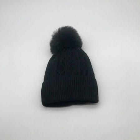 Σκούφος Μαύρος Πλεκτός