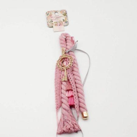 Γούρι Ροζ με Κλειδί