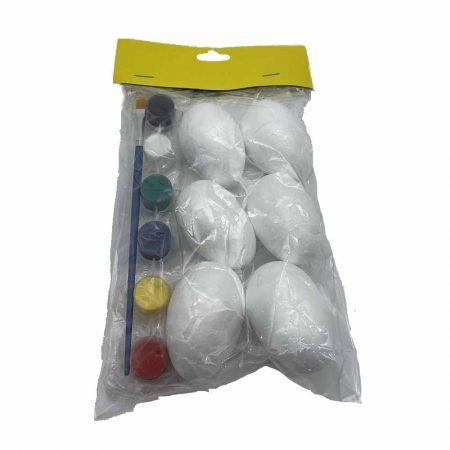 Αυγά Σετ 6 τεμαχίων με νερομπογιές