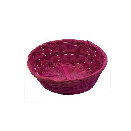 Καλάθι Ψάθινο Ροζ