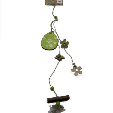 Κρεμαστό Πράσινο με Αυγό και Λουλούδια